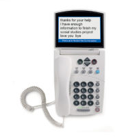 Check out the CapTel 840 captioned telephone here.