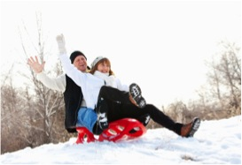 Zipping down a snowy slope on a sled can help you reconnect with your inner child and burn some serious calories.