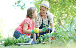 Our earth day celebration ideas include planting a vegetable garden.