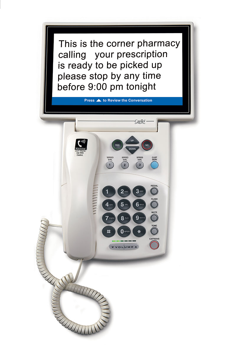 Learn more about the CapTel 880i captioned telephone here.