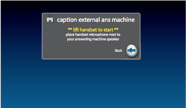Captioning Messages from an External Answering Machine