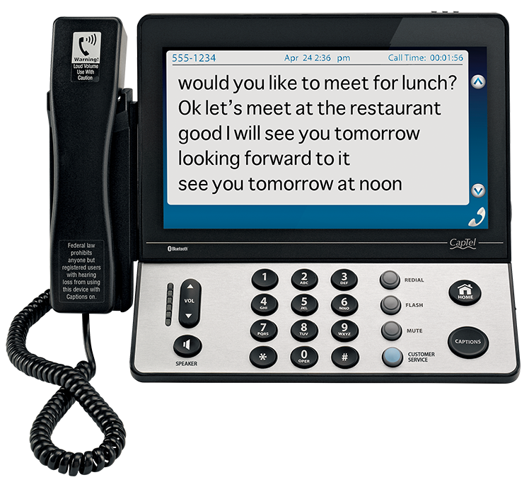 Learn more about our CapTel captioned telephones for the hearing impaired here.