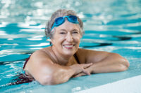 One of the most popular sports for seniors is swimming.
