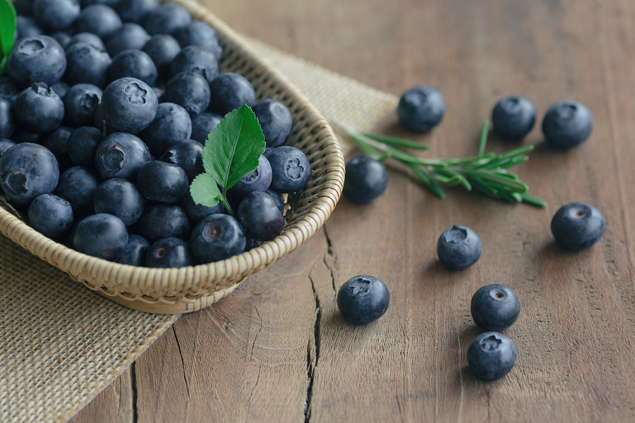 One of the health benefits of blueberries is that they provide you with antioxidants.