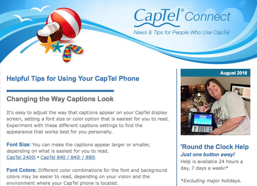 CapTel Connect August 2018