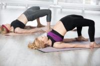 One strength training exercise for seniors is lying hip bridges.