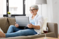 One technology tip for seniors is to choose strong passwords when setting up accounts online.