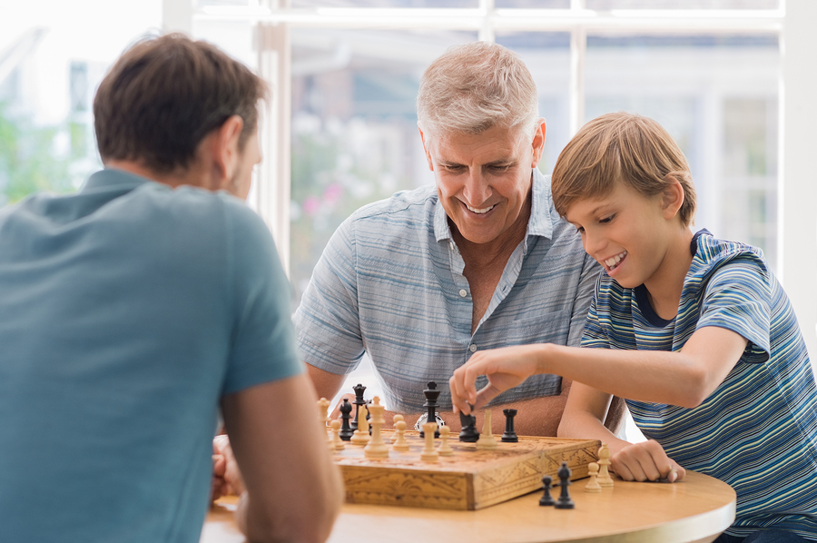 Chess is one of many fun memory games and puzzles for seniors.