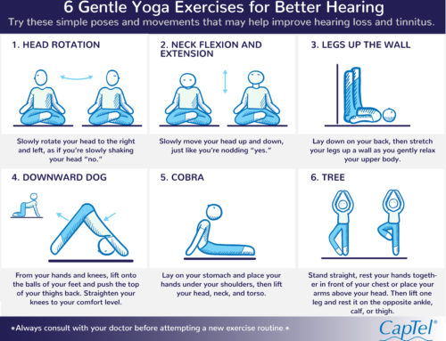 6 Gentle Yoga Exercises to Promote Better Hearing [Infographic]