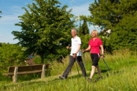 One of the health benefits of walking is that you can build stronger muscles.