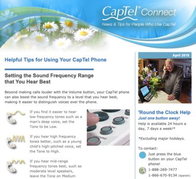 CapTel Newsletter April 2019