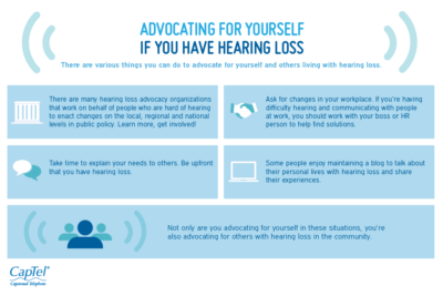 Advocate for yourself if you have hearing loss