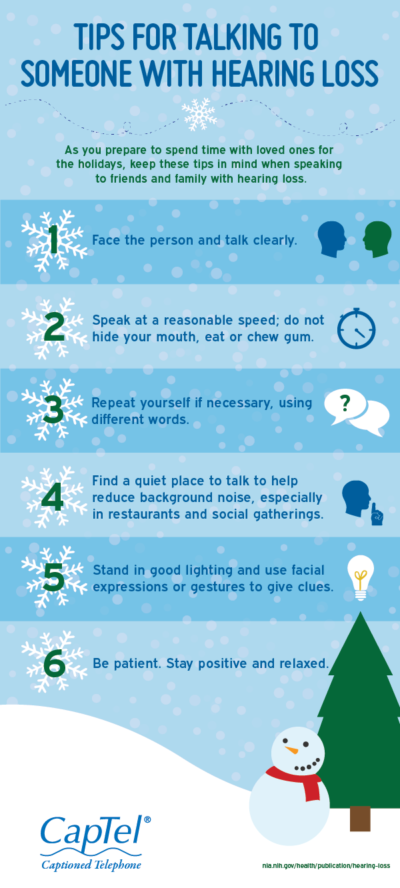 Holiday Tips for Talking to Someone with Hearing Loss
