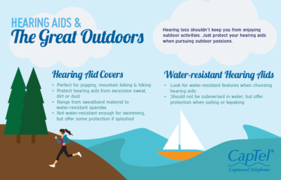 Protect your hearing aids when pursuing outdoor passions