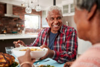 One healthy food delivery option for seniors is from local grocery stores.