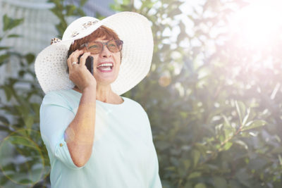 One way to keep long-distance friendships strong is by scheduling a weekly phone call.