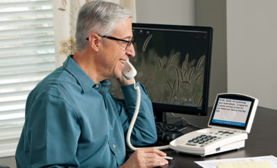 A captioned phone for hearing loss can help improve your communication with others.