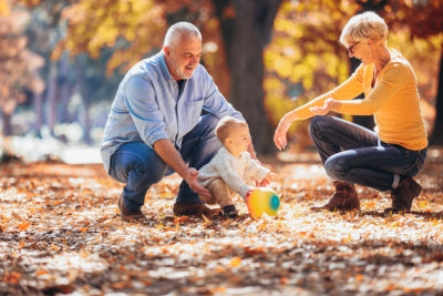 One of the fall activities to do with your grandkids is enjoy the leaves