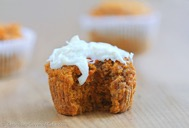 One of the healthy dessert recipes in this post is carrot cake cupcakes