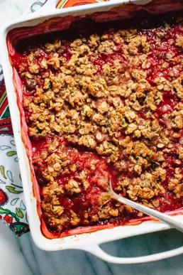 One of the healthy dessert recipes in this post is plum crisp