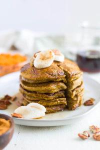 One healthy pumpkin recipe to try is pumpkin pancakes