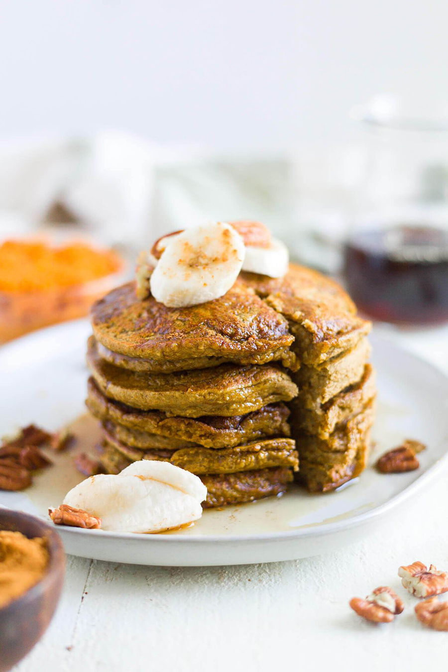 One healthy pumpkin recipe to try is pumpkin pancakes