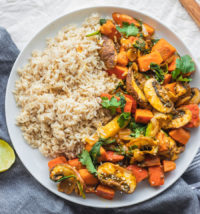One healthy pumpkin recipe to try is vegetable pumpkin stir-fry
