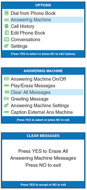 captel-840-clearing-messages