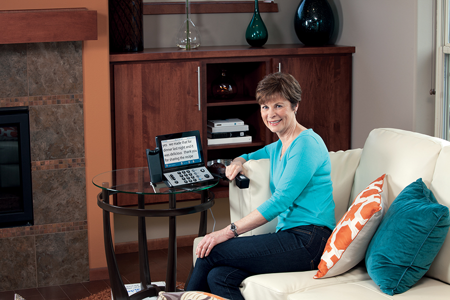 CapTel offers four different models of hearing loss telephones with captioning.