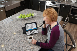 A captioned telephone makes a wonderful holiday gift idea for people with hearing loss.