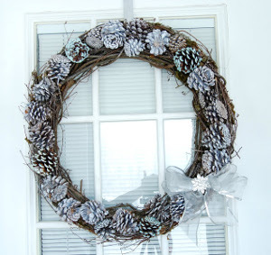 Winter wreaths is another winter craft idea for seniors.