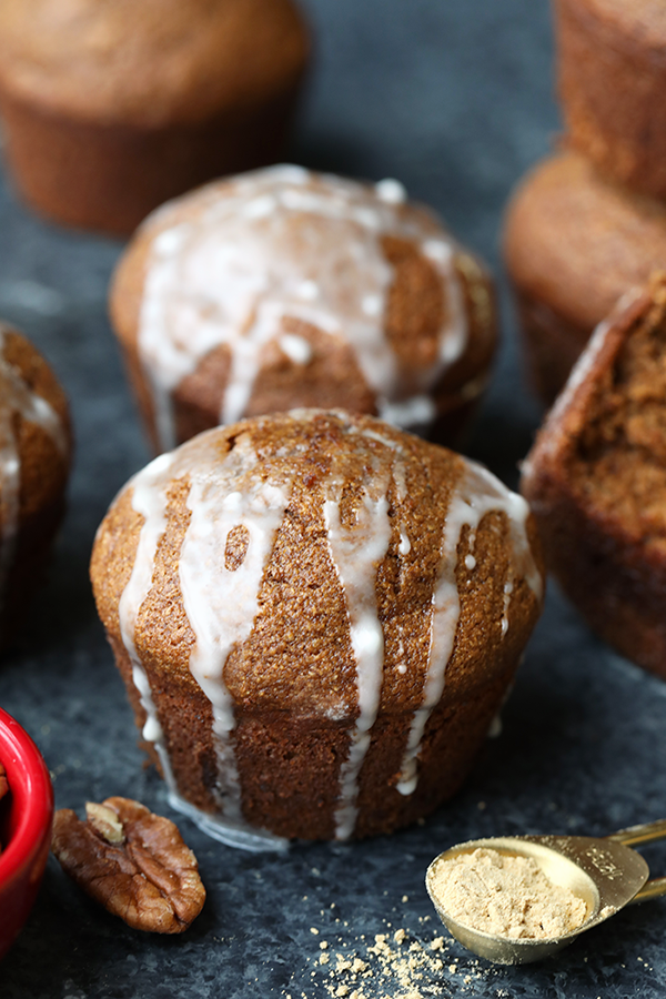 One of the healthy holiday breakfast recipes on our list is Gingerbread Muffins