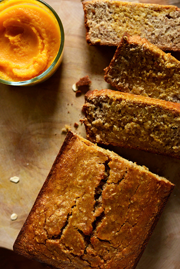 One of the healthy holiday breakfast recipes on our list is Butternut Squash Banana Bread