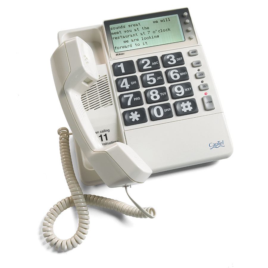 CapTel captioned phone technology for hearing loss was invented by Ultratec more than 20 years ago.