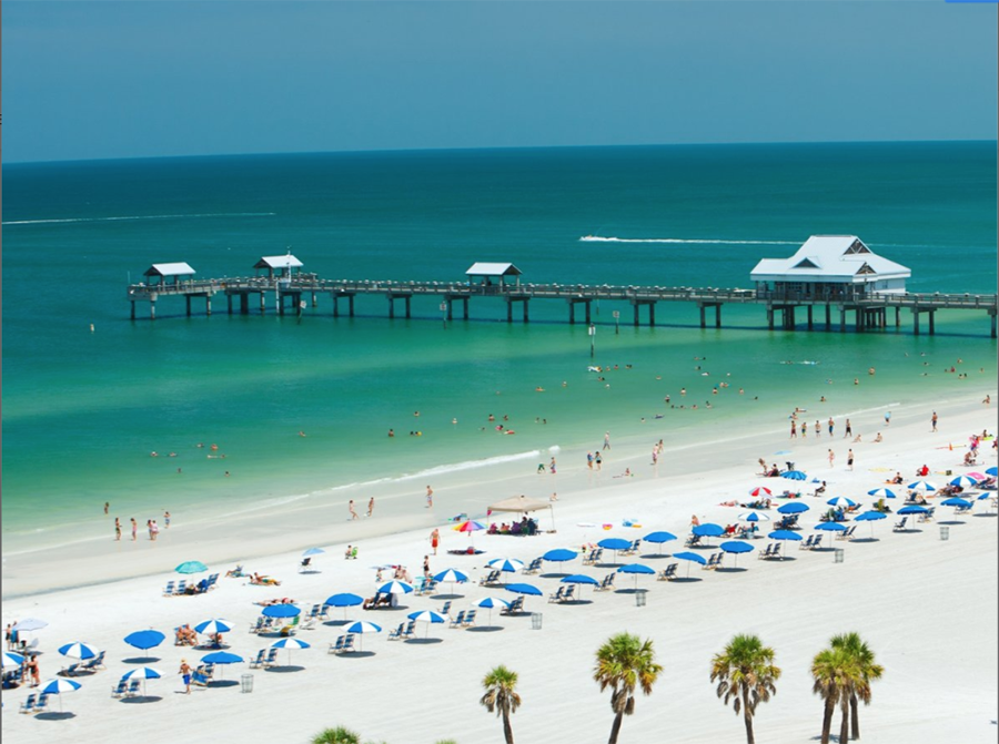 One of the warm winter travel destinations for seniors on this list is Clearwater Beach, Florida.