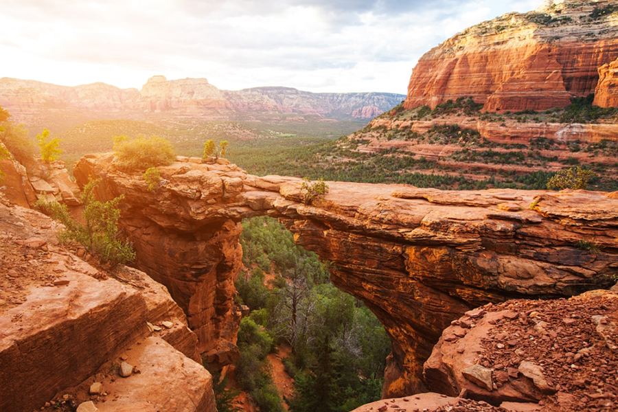 Another one of the warm winter travel destinations for seniors on this list is Sedona, Arizona.