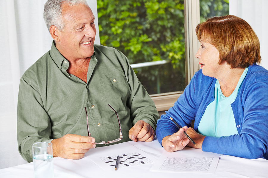 One of the health benefits of puzzles for seniors is improved memory.