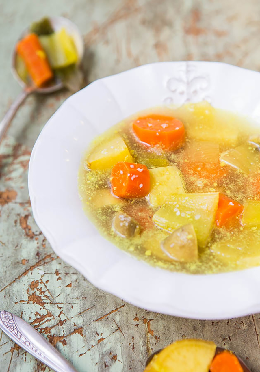 One of the homemade soup recipes on this list is immune-boosting vegetable soup