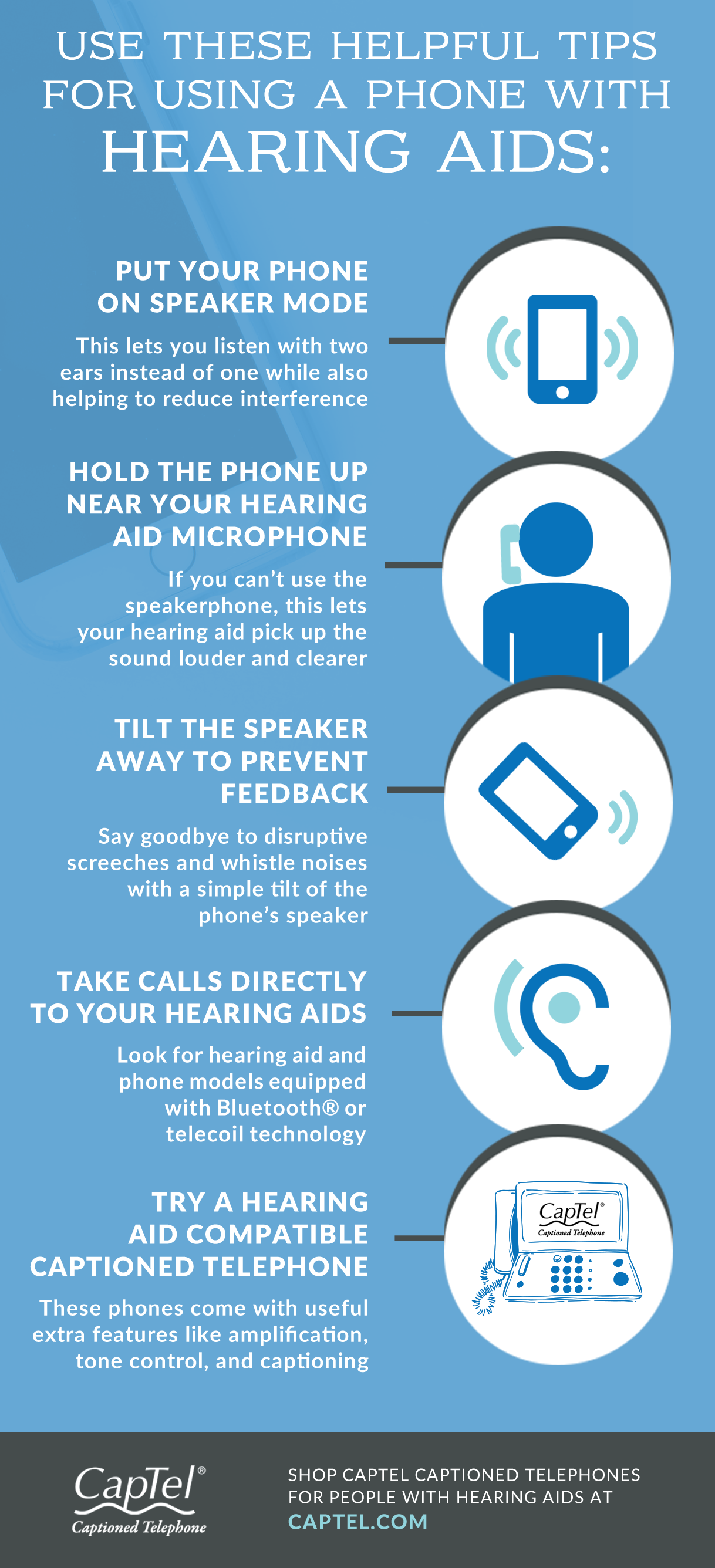 One of the tips for using a phone with hearing aids is to put the phone on speaker mode.