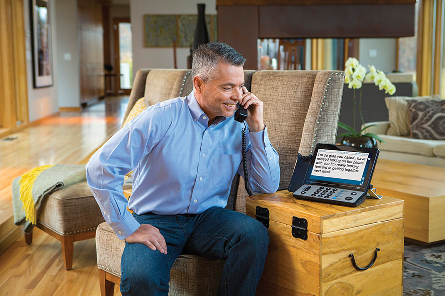 Using a captioned telephone for phone interviews is one of the job interview tips for people with hearing loss.