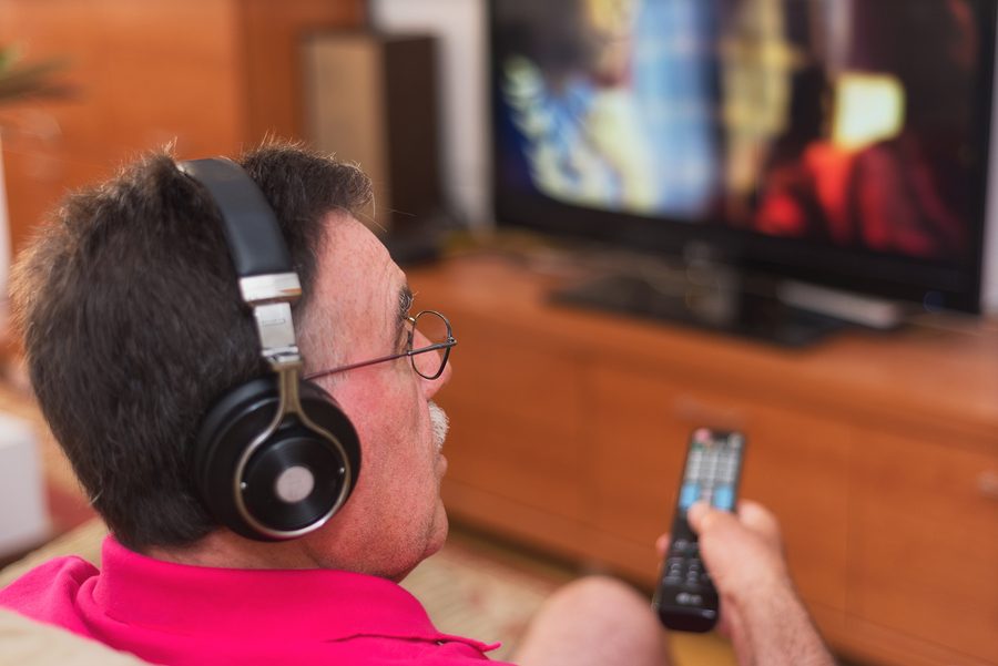TV headphones are one of the hearing loss accessories on this list for watching shows and movies.