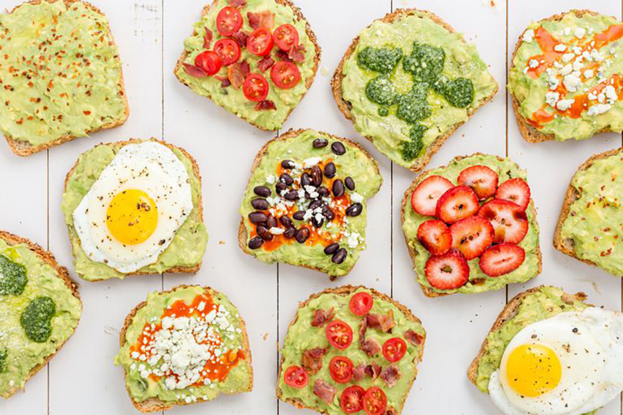One of the healthy avocado recipes in this post is Avocado toast
