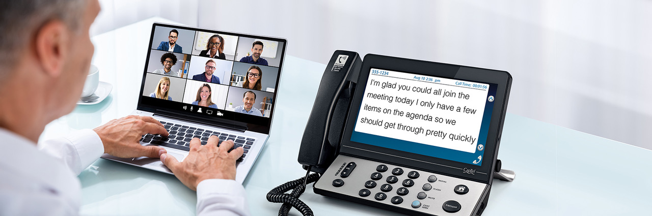 You can use your CapTel phone to read captions of your virtual meeting.