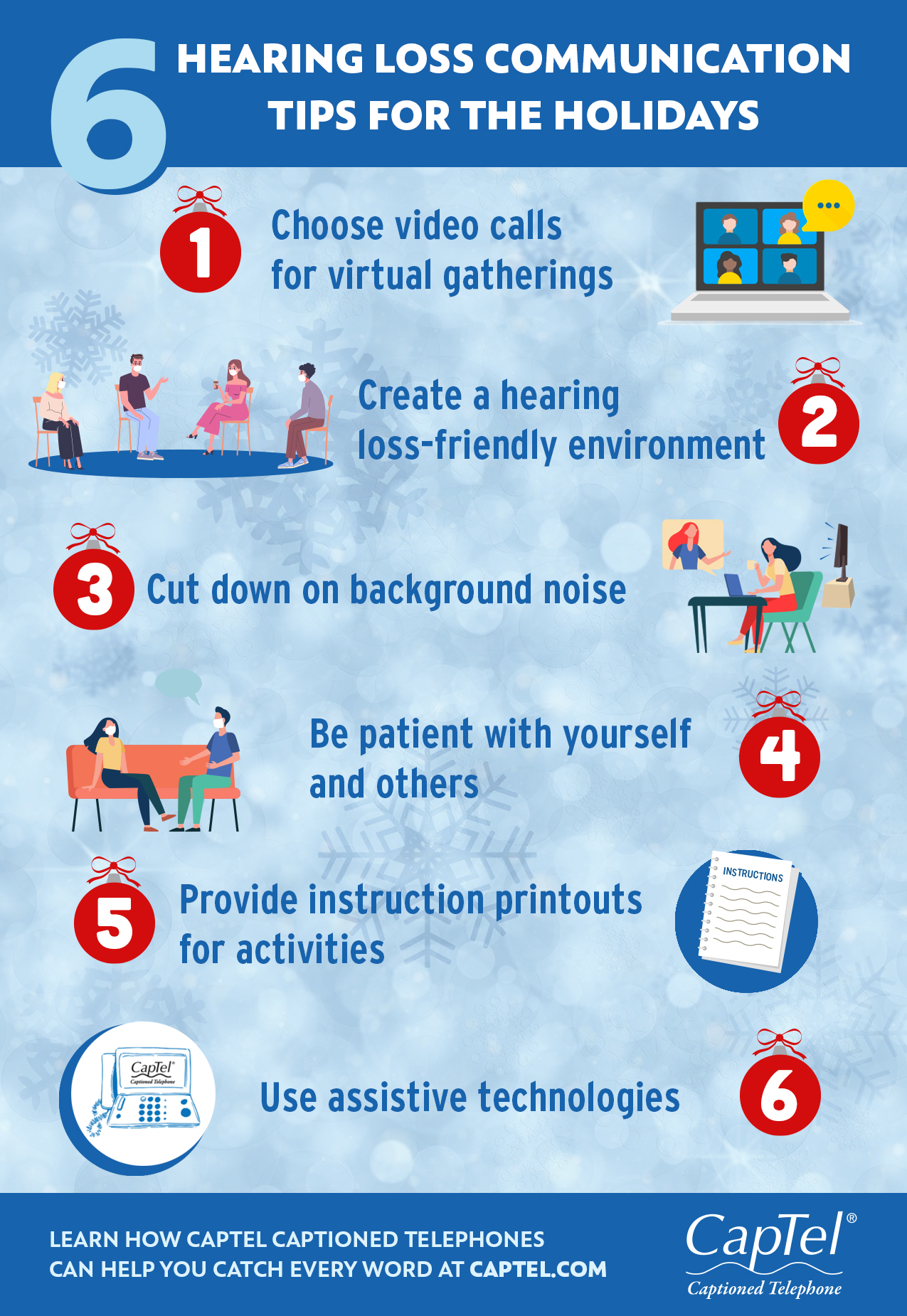 Find hearing loss communication tips for the holidays in this blog.