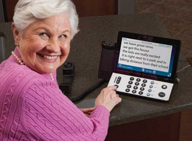 A captioned telephone for hearing loss allows people to read along with their phone conversations and never miss a word.