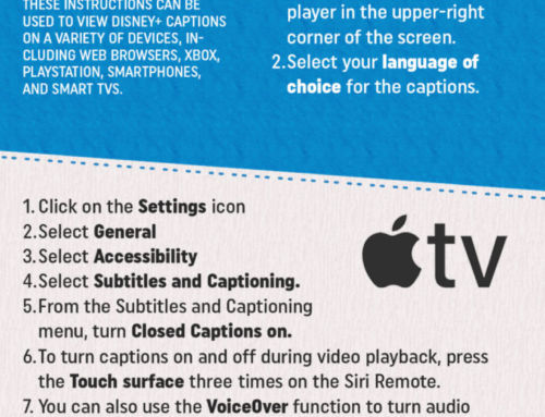 How to Use Closed Captions on Streaming Apps [Infographic]