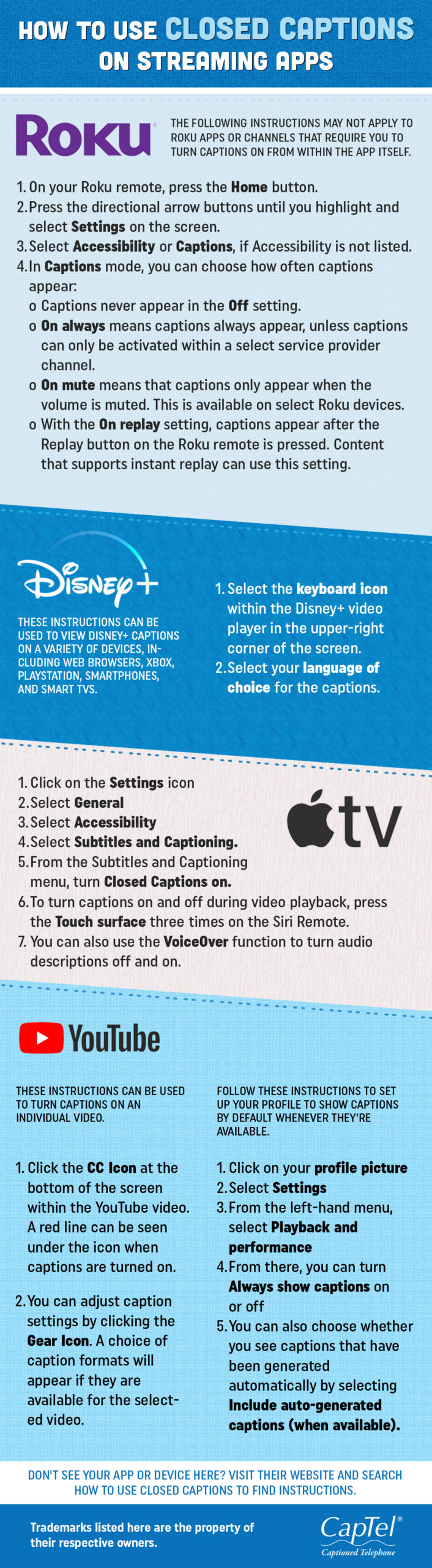 Follow these instructions on how to use closed captions on streaming apps to watch your favorite movies or shows in a hearing loss-friendly way.