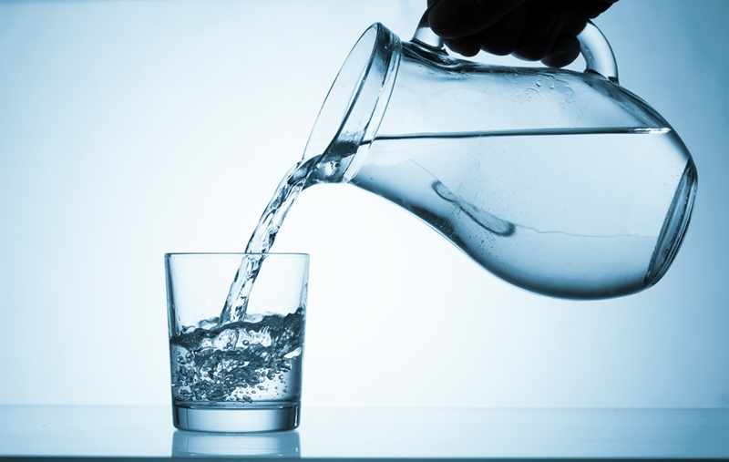 Try to keep a glass of water nearby at all times during the summer to remind yourself to drink plenty of fluids.